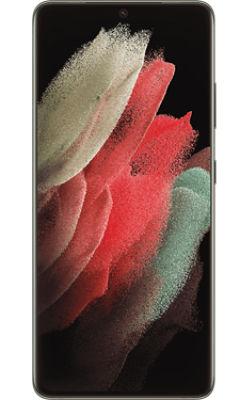Front View Samsung Galaxy S21 Ultra 5G Phantom Black
